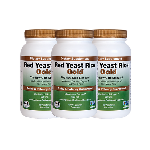 RED YEAST RICE GOLD 120 CAPSULES - 3 PACK