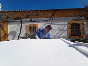 Works for Alentejo Barn House started.