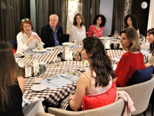 Brainstorming debate with ladies of influence