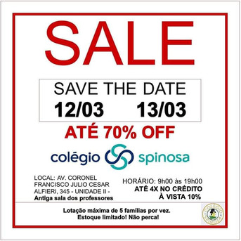 Sale - save the date