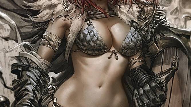 Vampirella Red Sonja #1 Derrick Chew 1:25 FOC Virgin Incentive Variant
