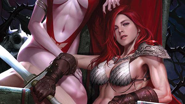 Vampirella Red Sonja #1 In-Hyuk Lee 1:21 FOC Incentive Variant