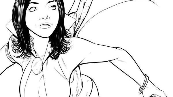 Vampirella Red Sonja #1 1:10 Drew Moss B&W Incentive Cover