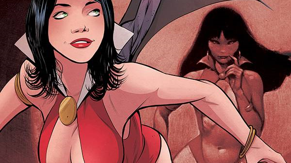 Vampirella Red Sonja #1 1:30 Drew Moss Virgin Incentive Cover