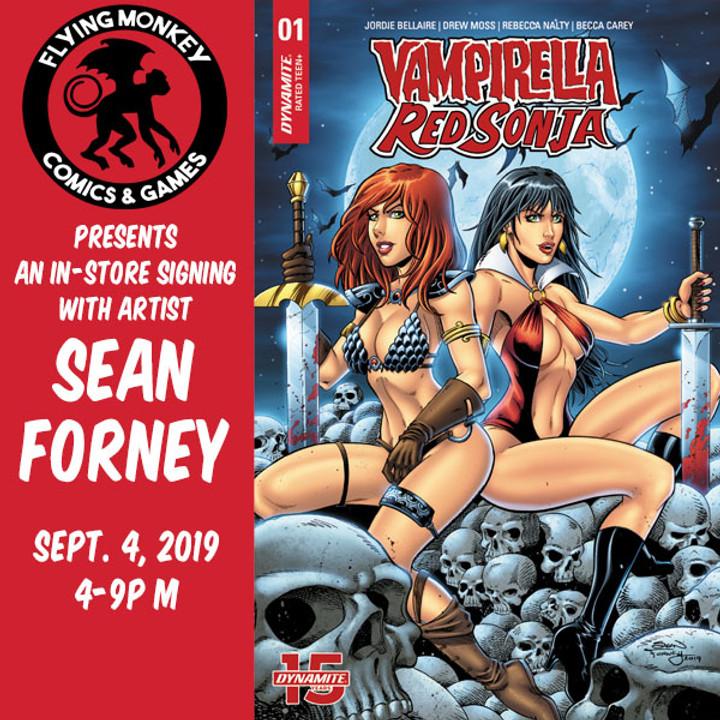 Sean Forney Red Sonja Vampirella Store Signing