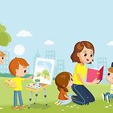 babysitter-kids-park-mum-reading-260nw-1294368118.jpg