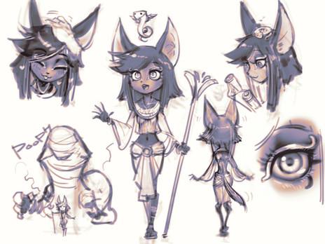 Sketch for Neht and Uro