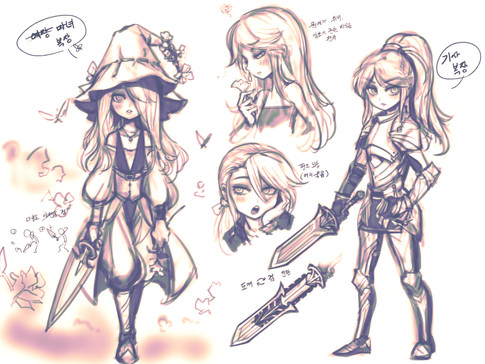 Sketch for Vria, the Knight Witch?