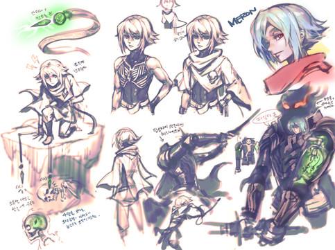 Sketch for Meron