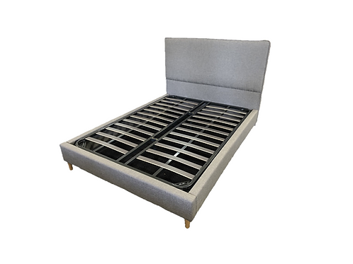 Modern Concise Grey Fabric, Metal Framed Slat,  High Quality Bed