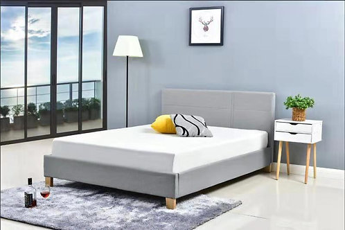 EH1002 Modern Concise Grey Linen Fabric Bed Frame