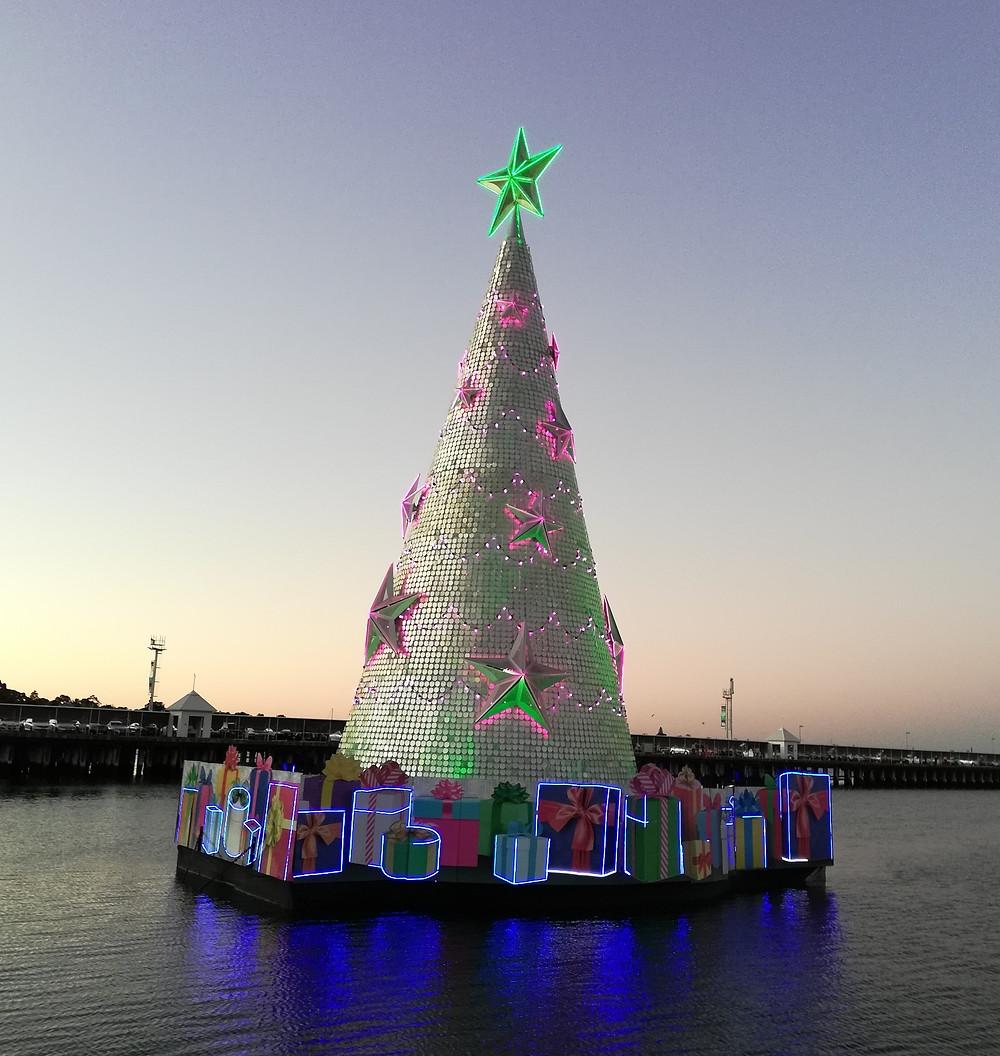 澳大利亚圣诞节海上圣诞树