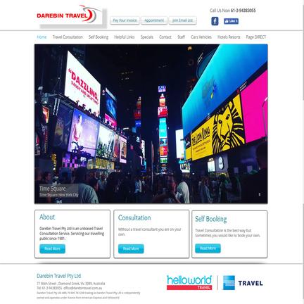 旅行社网站首页设计
