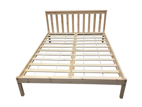 Natural Pinewood Bed Frame