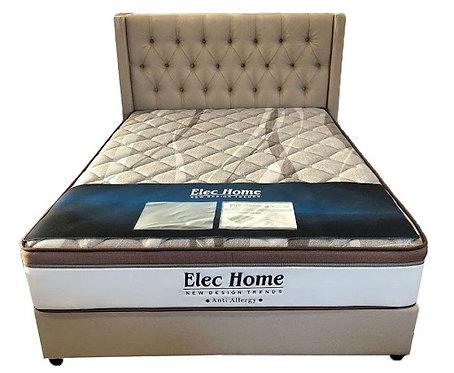 Luxury European Design /Metal Framed-Slat High Quality Fabric Bed Frame