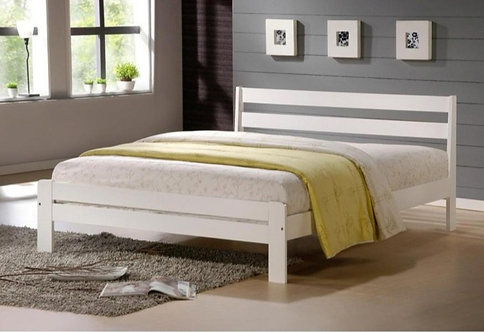 White Pinewood Bed Frame