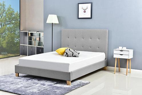 EH1079 Modern Buttons Grey Linen Fabric Bed Frame
