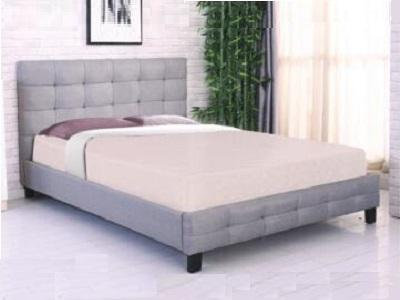 Brand New Grey Fabric Bed Frame Double Queen King