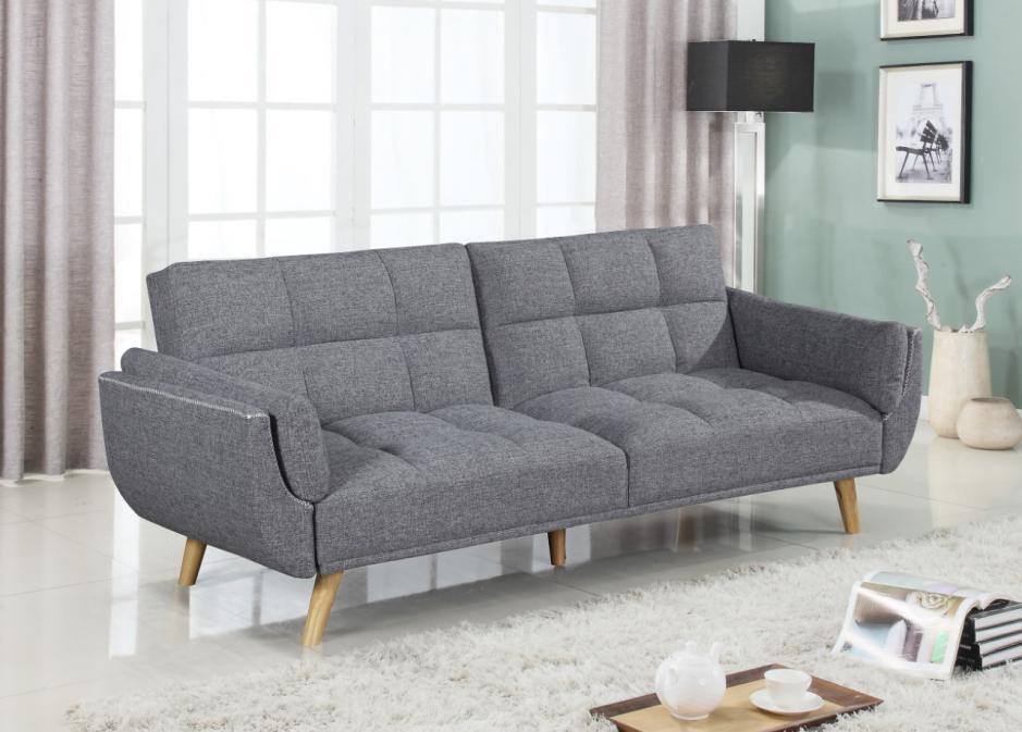 Tremendous Dark Grey Fabric Sofa Bed Machost Co Dining Chair Design Ideas Machostcouk