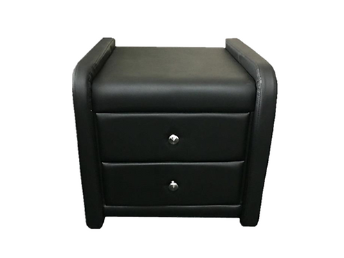 Black or White PU Leather Bedside Table