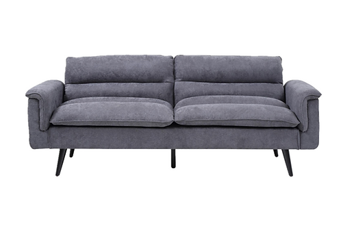 3 Seater Suede Fabric Sofa Bed