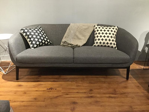 Dark Grey Fabric 2-Seater & 3-Seater Sofa