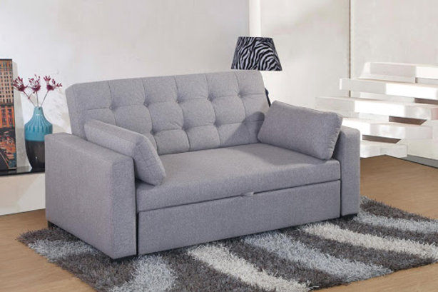 Cool Grey Fabric Two Seater Pull Out Sofa Bed Beatyapartments Chair Design Images Beatyapartmentscom