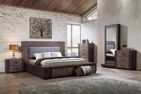 Luxury Modern Timber Queen/King Bed Frame - Pleven