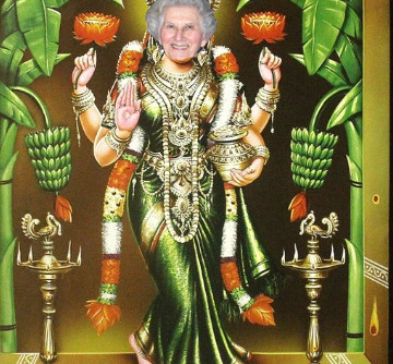 Lakshmi with my Mother's Face