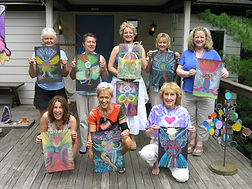 Leiah's second class in The Intuitive Art of Energy Portraiture for Noreen Wessling and her friends in Milford, Ohio.