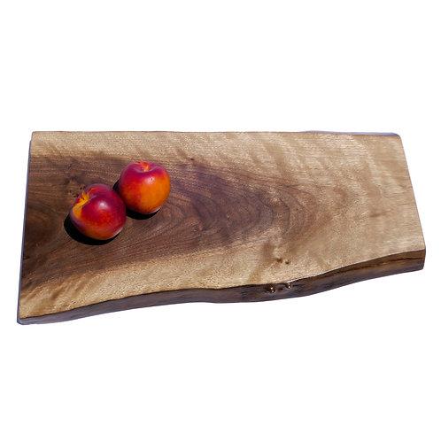 Figured Walnut Live Edge Serving Cutting Board