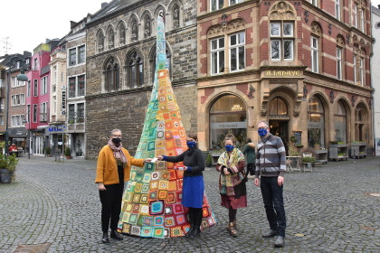Aachen Wunschbaum with wishes for the European policy