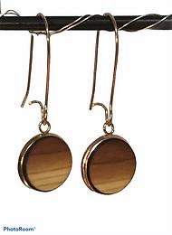 Cedar Rose Gold Earrings 12mm