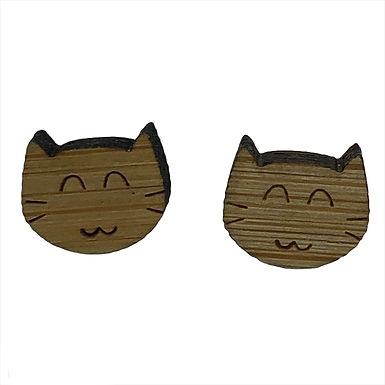 Happy Cat Earrings