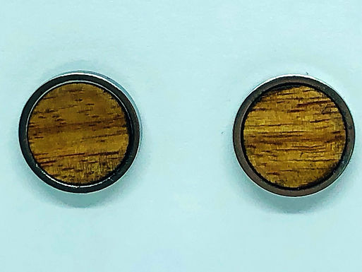 Canary Wood Stainless Steel Studs