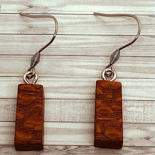 Lacewood Dangly Earrings