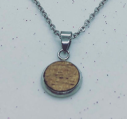Stainless Steel Wood Necklace