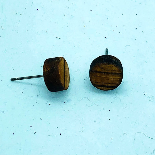 Zebra Wood Studs 10mm