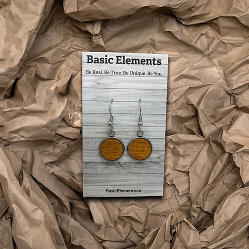 16 mm Wood Dangling Earrings