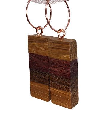 Oak, Elm, Purple Heart, 1/4 sawn Oak Earrings
