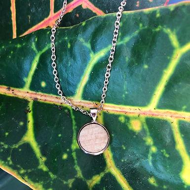 Rose Gold Wood Necklace 12mm