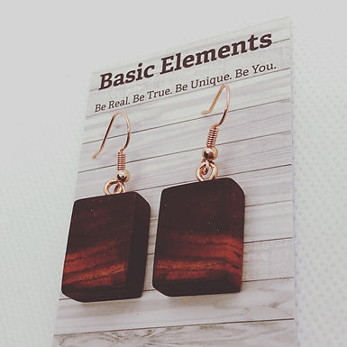 Cocobolo Rose Gold Earrings