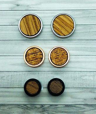 Wood Earring Trio
