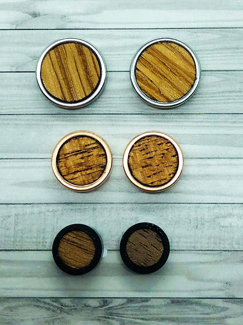 Wood Earring Trio