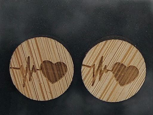 Heart ECG Earrings