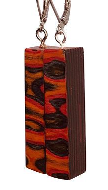 Multicolour Wood Dangles