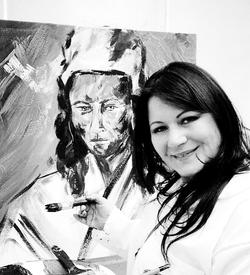 Diana Francia pintores Colombianos