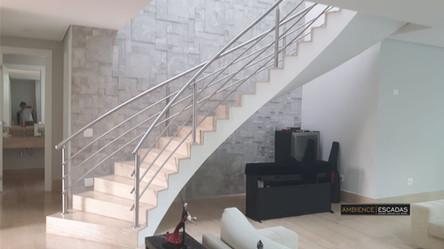 Guarda corpo de aço inox para escada