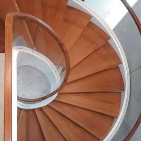 Vidros curvos escada helicoidal