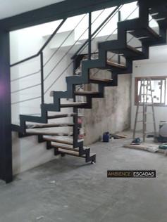 Guarda corpo de ferro em escada